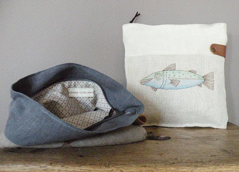 Handgefertigte Handtaschen aus Leinen von Susanne Vogelmann aus Schwäbisch Gmünd