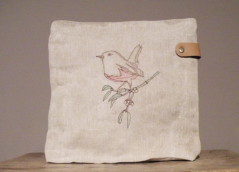 Handgemachte Umhängetaschen aus Leinen von Susanne Vogelmann Handwerk