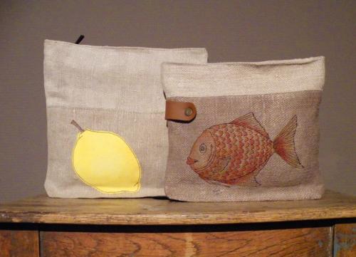 Handgemachte Spezialanfertigungen und Einzelstücke aus Bauernleinen von Susanne Vogelmann aus Schwäbisch Gmünd